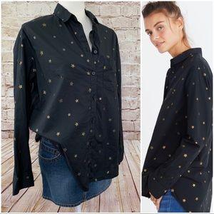 Madewell oversized star Button Down shirt